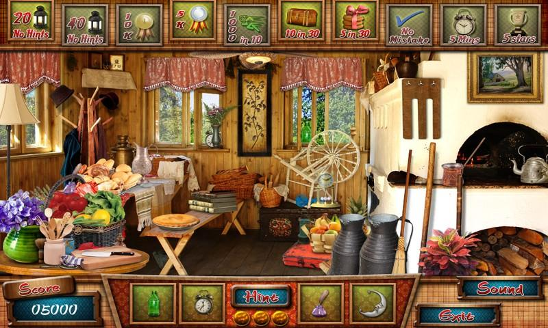 Cabin in the woods hidden object games
