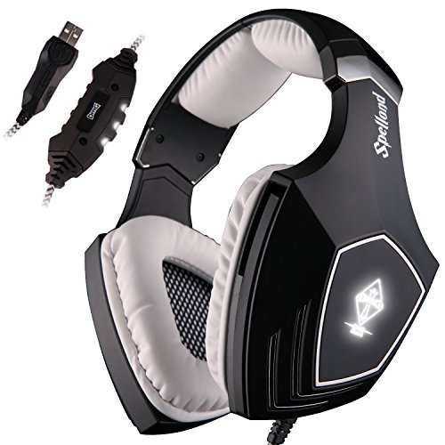 SADES Wired Surround Sound PC USB Gaming Headset