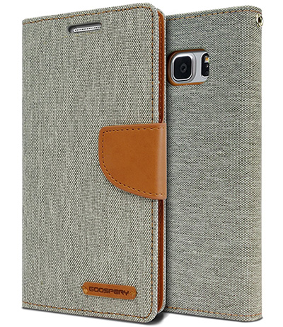 Canvas Diary Wallet Case for Note 7