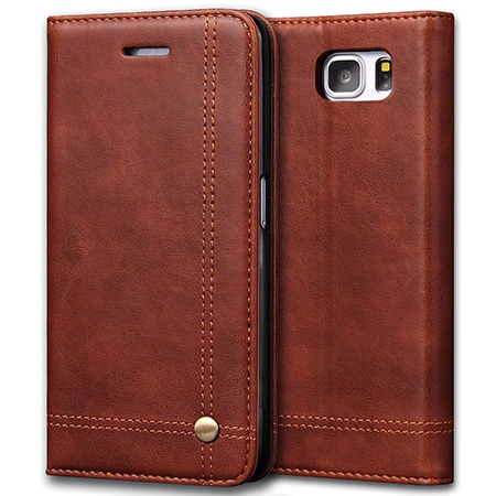 Leather note 7 case by Aofu