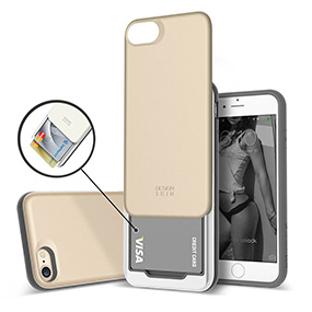 Design skin iPhone 7 case with card slot