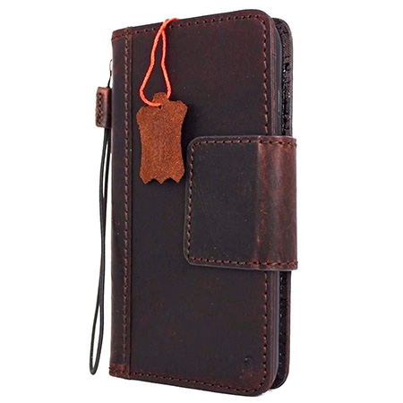 Genuine iPhone 7 leather wallet case