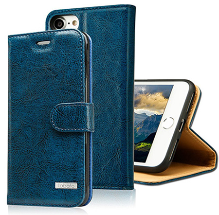 Labato genuine leather wallet case for iPhone 7
