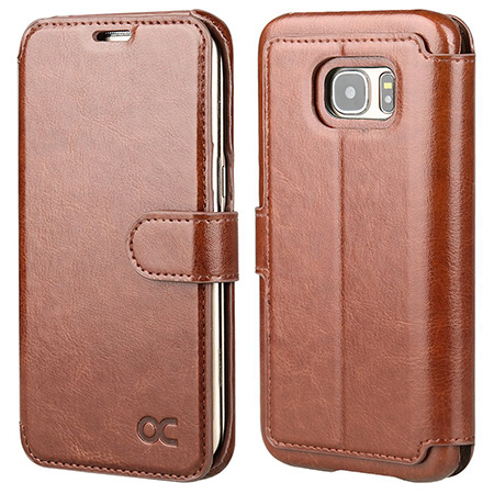OCASE Galaxy S7 Edge Case Leather Wallet