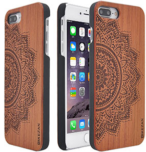 Carved iPhone 7 Plus wood case