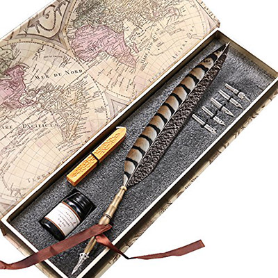 Antique Feather Copper Pen for writers