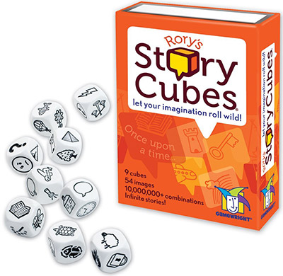 Story cubes for writing