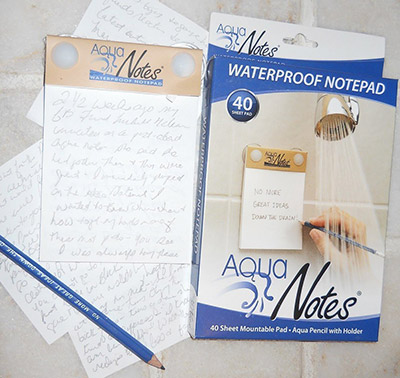 Waterproof notepad gift for writer