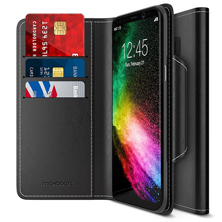 MaxBoost wallet case for Galaxy s8 plus