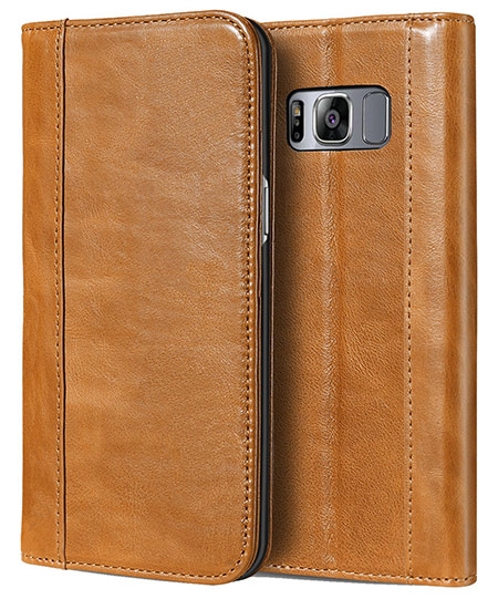 best samsung galaxy s8 plus leather case from procase