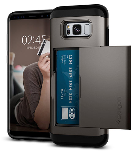 best samsung galaxy s8 wallet case from spigen