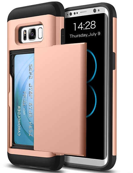 best samsung galaxy s8 case with card holder from ansiwee