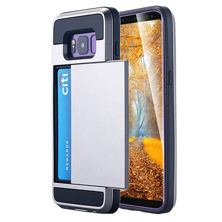 best samsung galaxy s8 case with card holder from lontect