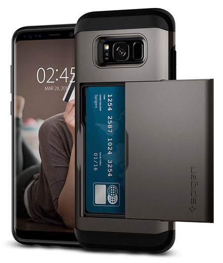 best samsung galaxy s8 case with card holder from spigen