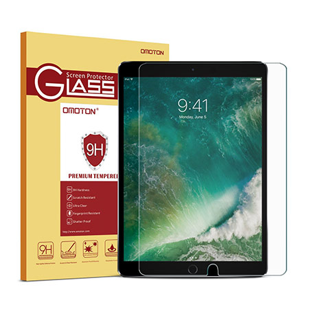 best 10.5-inch iPad Pro Tempered Glass Screen Protector from omoton