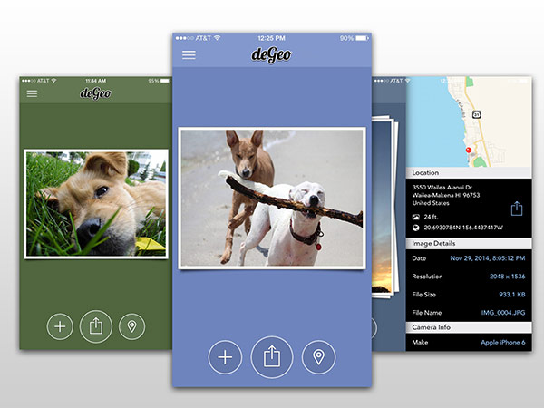 degeo location data removing tool for iOS