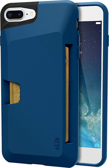 best iphone 8 plus case with card holder from silk