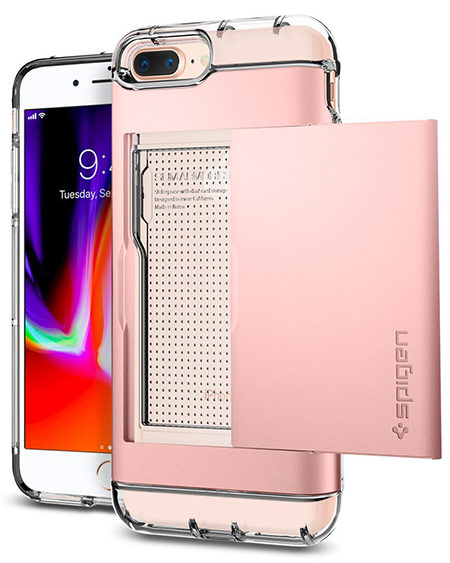 best iphone 8 plus case with card holder from spigen 2