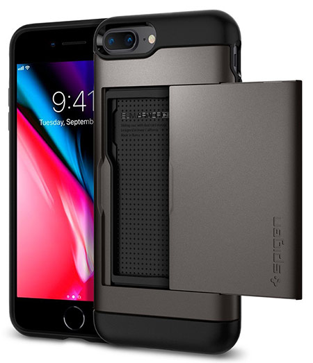 best iphone 8 plus case with card holder from spigen