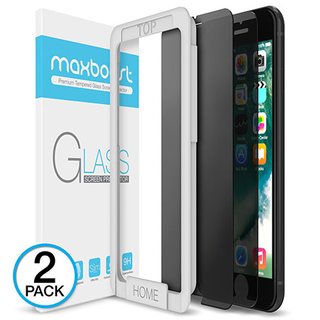 best iphone 8 plus tempered glass screen protector from maxboost