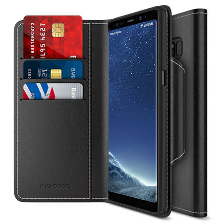 best samsung galaxy note 8 wallet case from maxboost