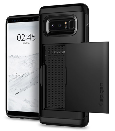 best samsung galaxy note 8 wallet case from spigen