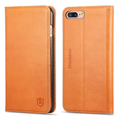 best iphone 8 plus leather case from shieldon 2