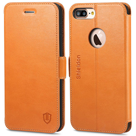 best iphone 8 plus leather case from shieldon