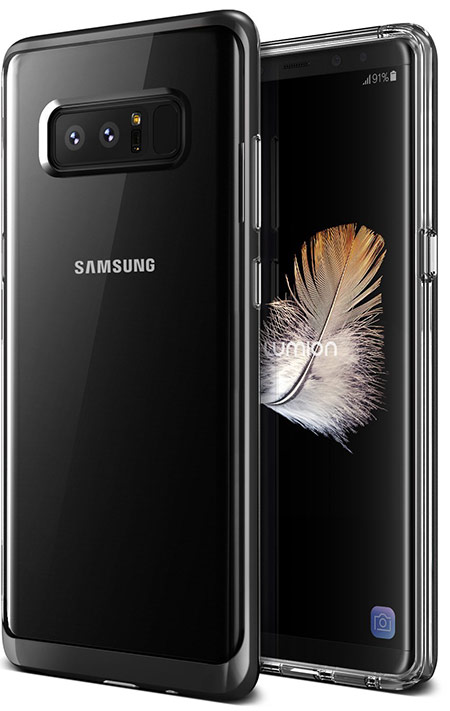 Best Samsung Galaxy Note 8 clear case from Lumion