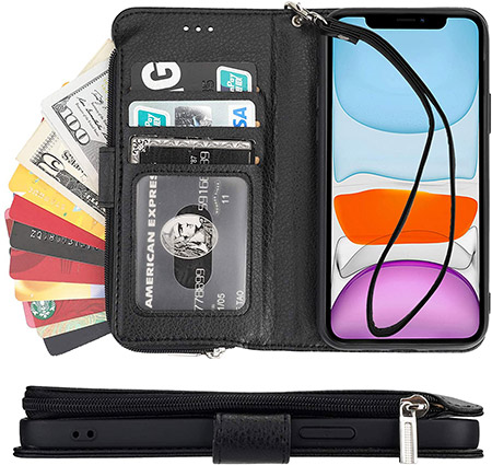 KIHUWEY iPhone 12 iPhone 12 Pro Wallet Case Leather