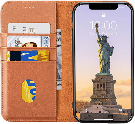LONLI iPhone 12 & 12 Pro Wallet Case